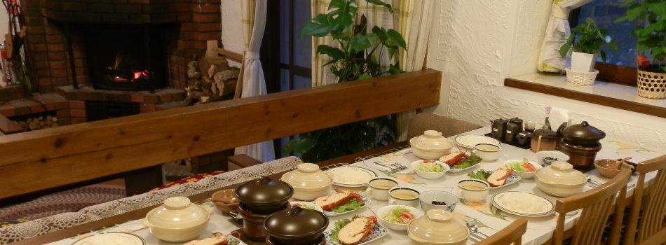 芦ノ湖ペンション森 夕食