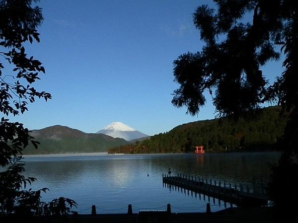 桟橋からの富士山